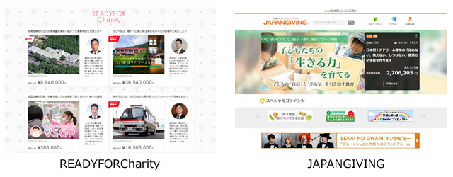 READYFORCharity、JAPANGIVING