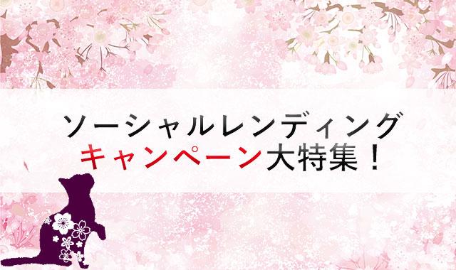 【最新情報!】ソーシャルレンディング業者のキャンペーン特集!